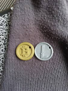 NFC-enabled BTC & LTC